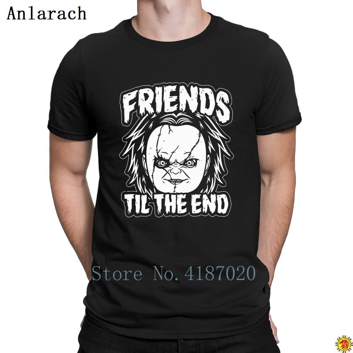 Amigos até o t-shirt End Chucky manga curta normal T Camisa personalizada For Men Hot Sale clássico Anlarach impressionante