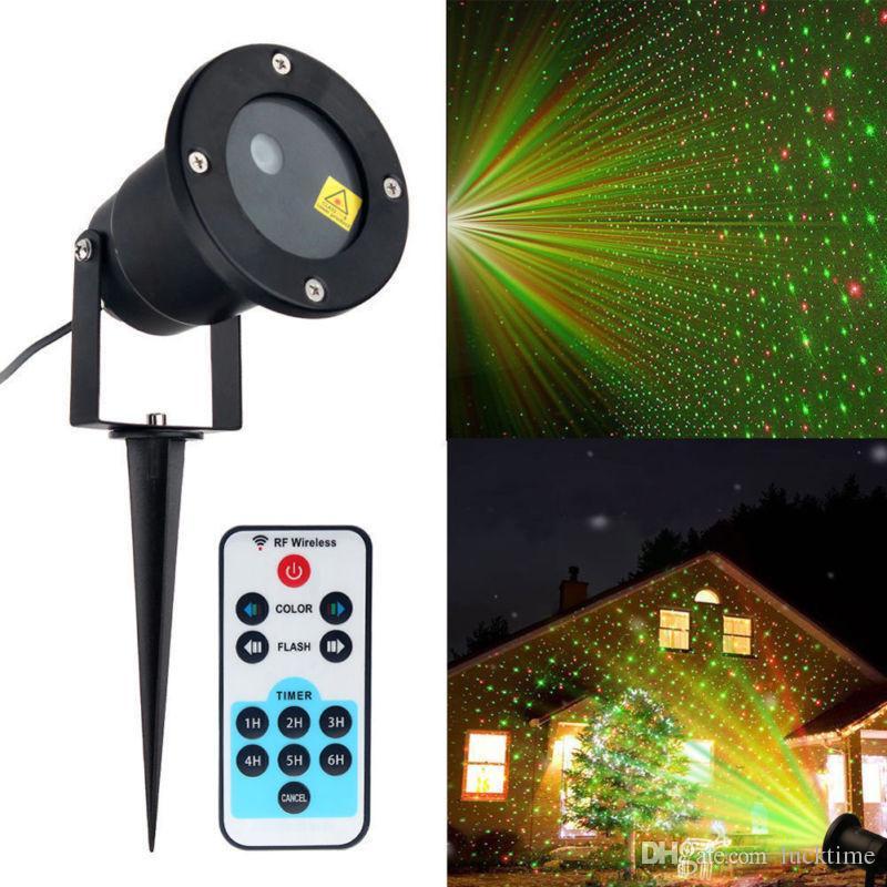 La luz láser proyector de la Navidad que gira el LED láser de vacaciones lámpara de proyección de la estrella en movimiento al aire libre a prueba de intemperie iluminación del paisaje espumoso