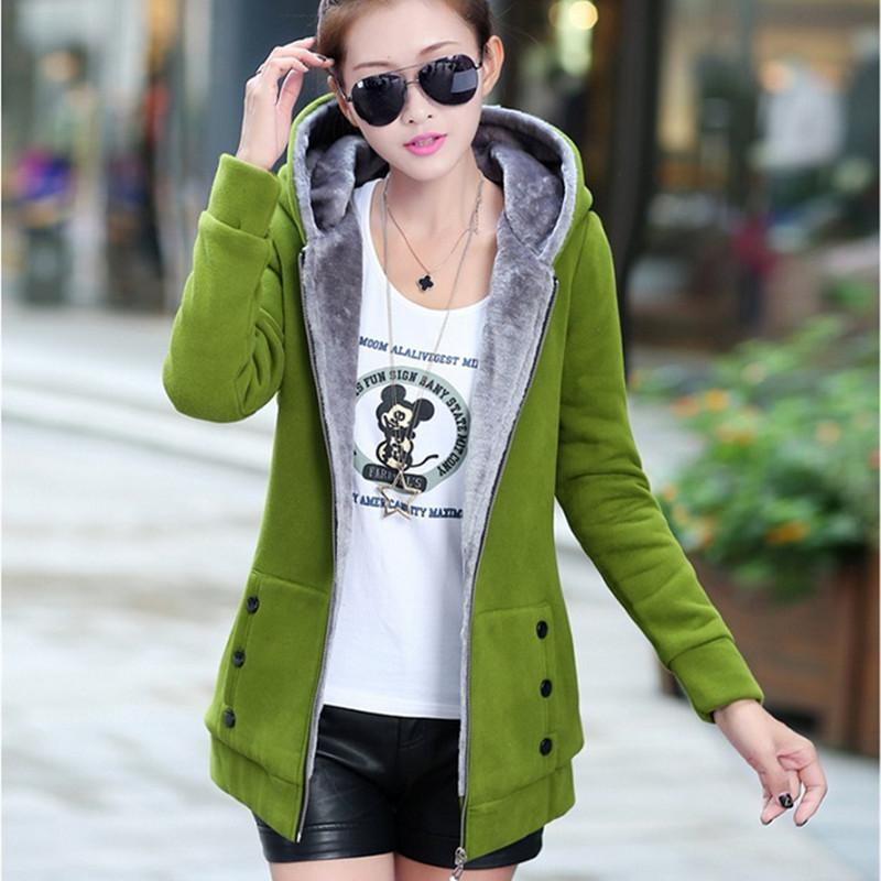 2016 весна осень куртки Женщина Повседневной толстовки пальто Хлопок Спортивные пальто с капюшоном Теплые курток Плюс Размер M-3XL S20200106