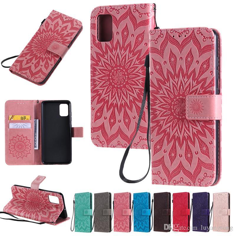 Cuir Flip pour Samsung Galaxy S20 plus S20 Ultra Case Wallet Flower 3D Carte Pour Samsung Galaxy A51 A71 Coque