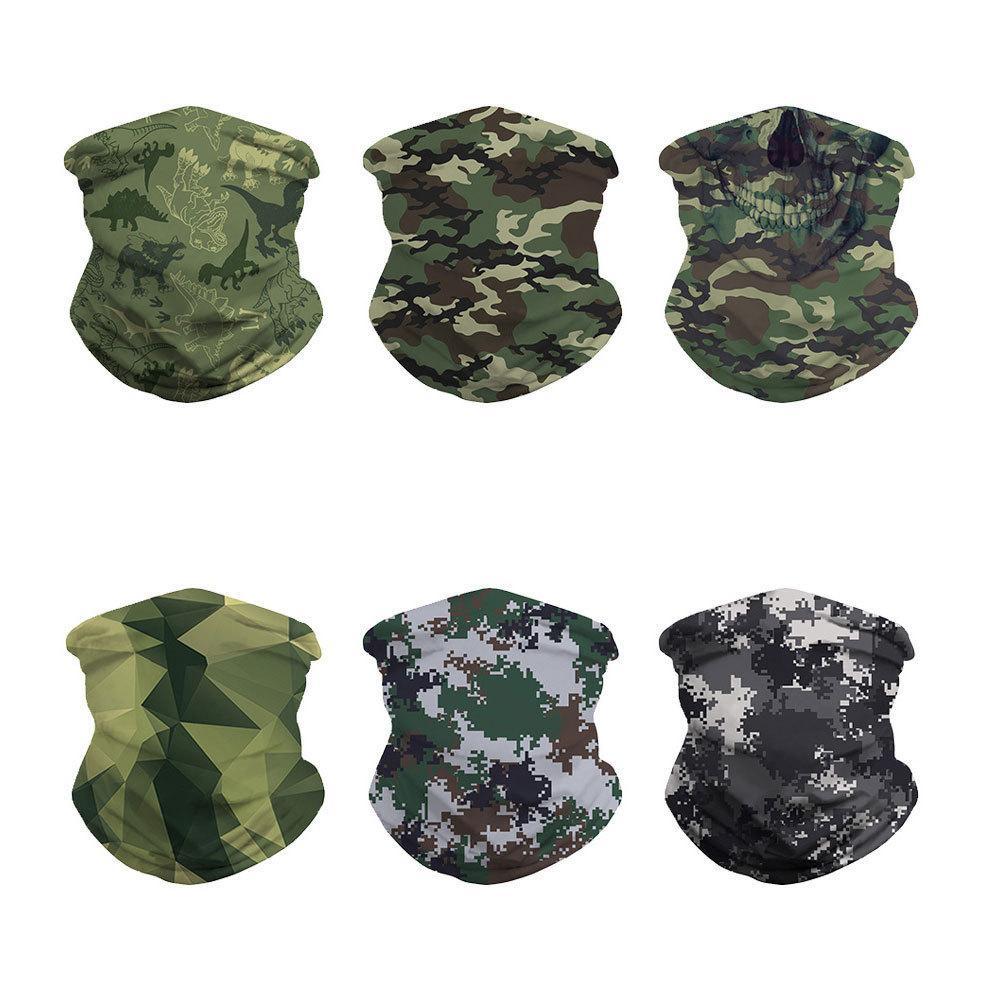Digital Camouflage Druck Outdoor Insekt-proof Radfahren Maske Gesims Kappe Veränderbar Magie Schal Schal