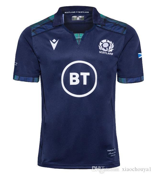 2019/2020 Schottland Hause Rugby Trikot Nationalmannschaft Schottland Rugby-Trikots Shirt SCOTLAND HOME RUGBY JERSEY