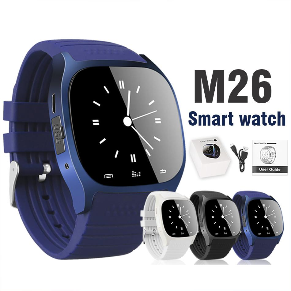 Smart Watch M26 Smartwatches Bluetooth For Android Mobile Phone with LED Display Music Player Pedometer For iPhone in Retail Package