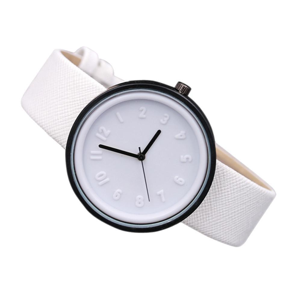 심플한 패션 워치 쿼츠 캔버스 시계 유니섹스 팔찌 시계 Reloj de dama W 무료 배송