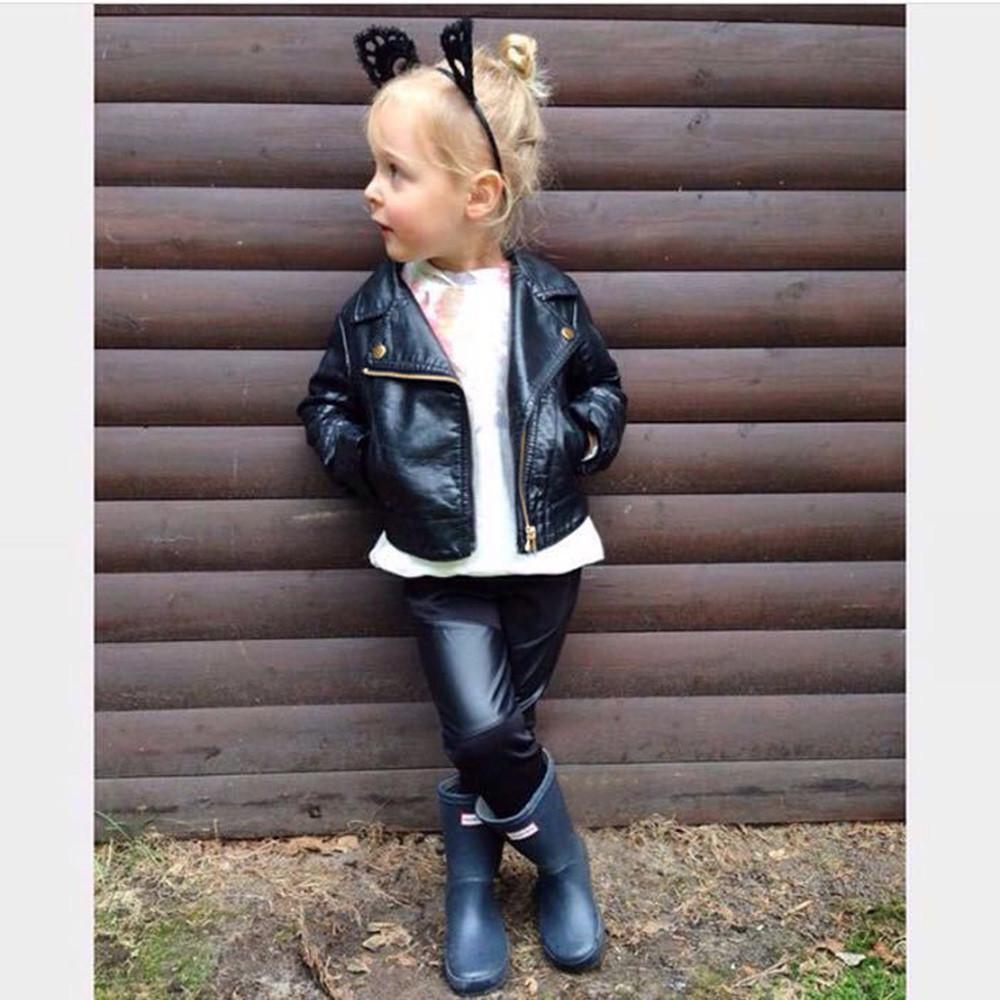 Sonbahar Kış Çocuk deri ceket kız çocukları eskitmek rüzgarlık çocuklar Erkekler Kızlar Coat Kısa Ceket Elbise kurtka dziewczynka