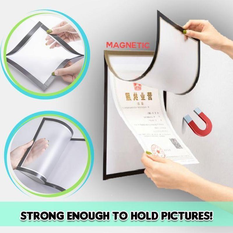 Магнитная фоторамка Главная A4 A3 Изображение Защита Сертификат Кадровый Холодильник Wall Фотографии висячие украшения Retrato