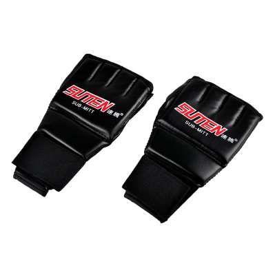 العلامة التجارية الراقي قفازات الملاكمة معدات التدريب نصف اصبع قفازات قفازات قفازات جلدية تنفس الرمل اللكم