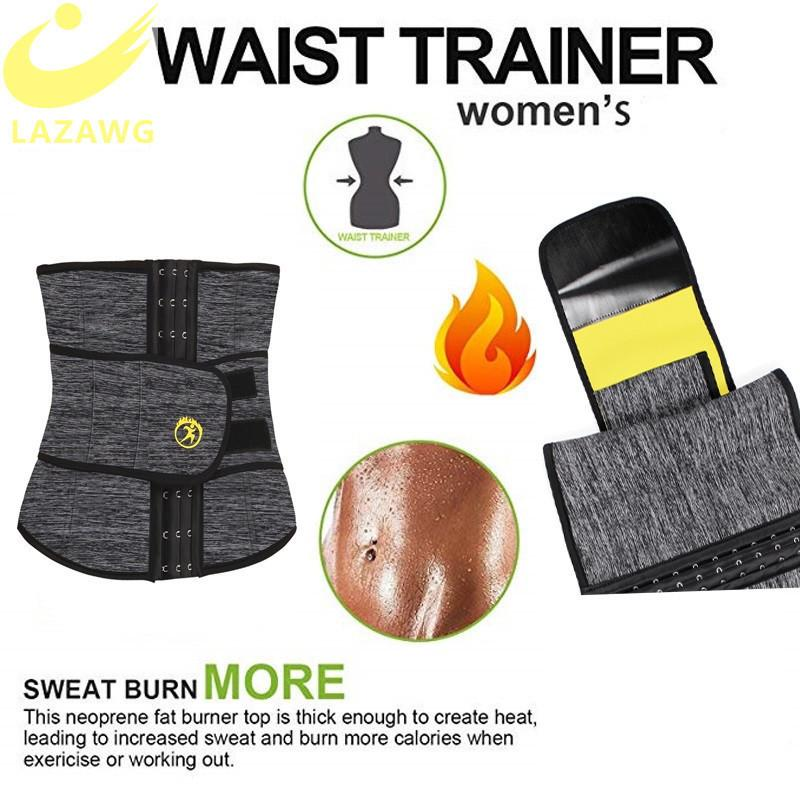 LAZAWG Women Hot Waist Trainer Sauna Sweat Slimming Belt Tummy Control Strap Neoprene Sport Girdle for Weight Loss