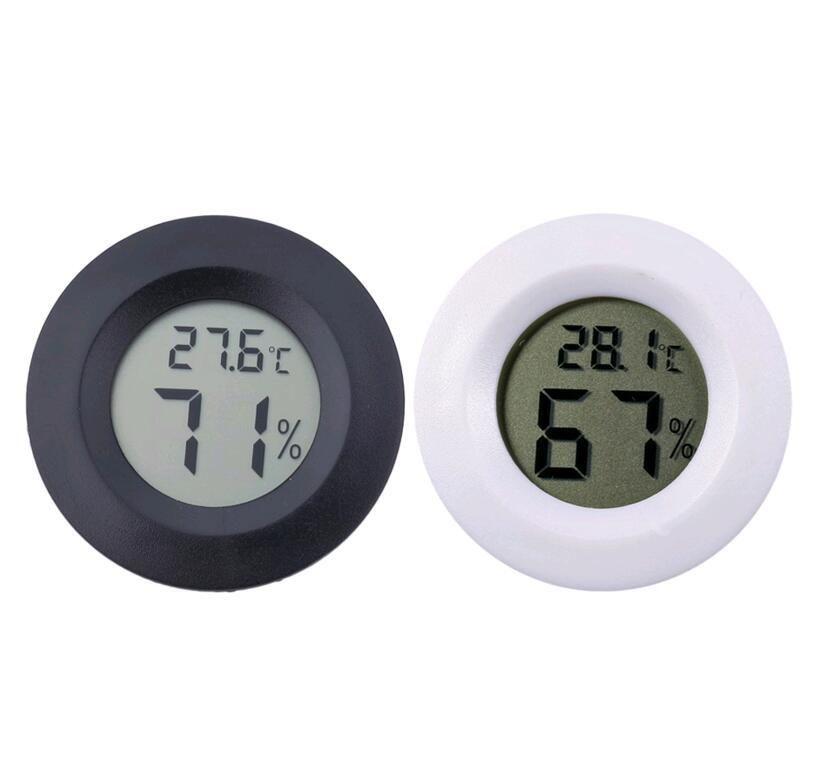 مصغرة جولة LCD ميزان الحرارة الرقمي رطوبة الثلاجة تستر فريزر درجة الحرارة الرطوبة متر كاشف الرئيسية أداة قياس VT0171