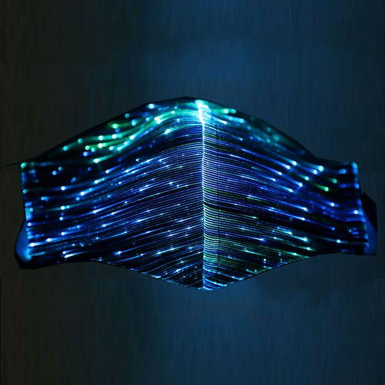 أدى ضوء مضيئة الوجه أقنعة مصمم الأزياء قناع حزب الرقص قابلة لإعادة الاستخدام الفم قناع FAST SHIPPIN SK001