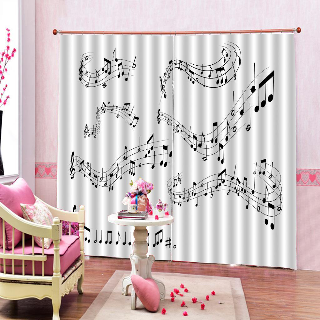 2020 Music Decor Curtain Musical Notes On The Clef Illustration Decorative  For Living Room Bedroom Window Drapes Home Sets From A1048874333, $137.69 |  ...