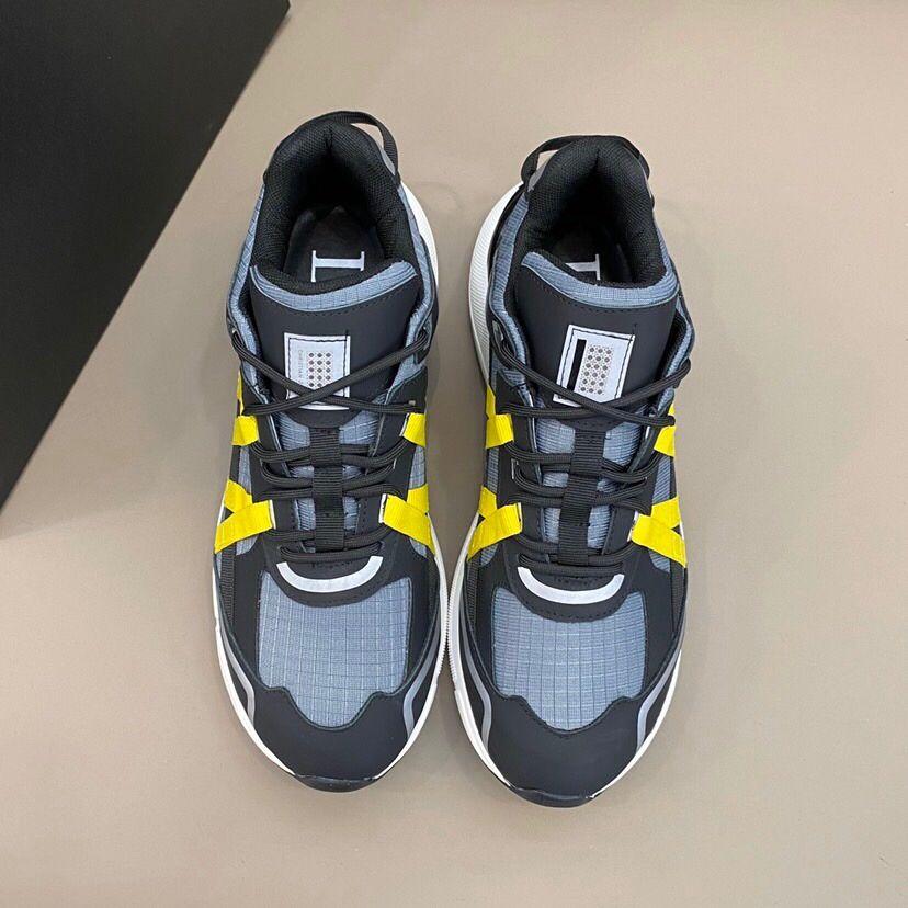 donne di lusso del progettista di moda sneakers originali scarpe in pelle scamosciata da tennis in argento bianco rosa arancio Runners grigio scarpe da uomo casual RD373 scarpe