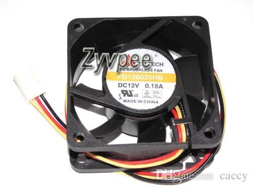 60x60x25mm 6CM FD126025HB FD126025HB-N 12V FD126025EB 2Wire 3Wire Case fan inverter switch server cpu cooler