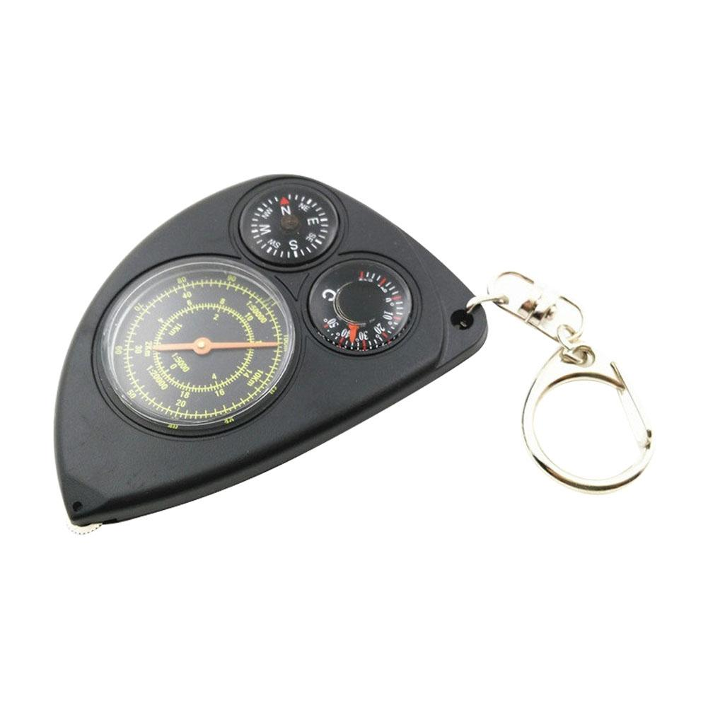 Odometer Thermometer Mini Portable Mountaineering Camping Waterproof ABS Multifunctional Sport Key Chain Hiking Travel Outdoor Survival Brac