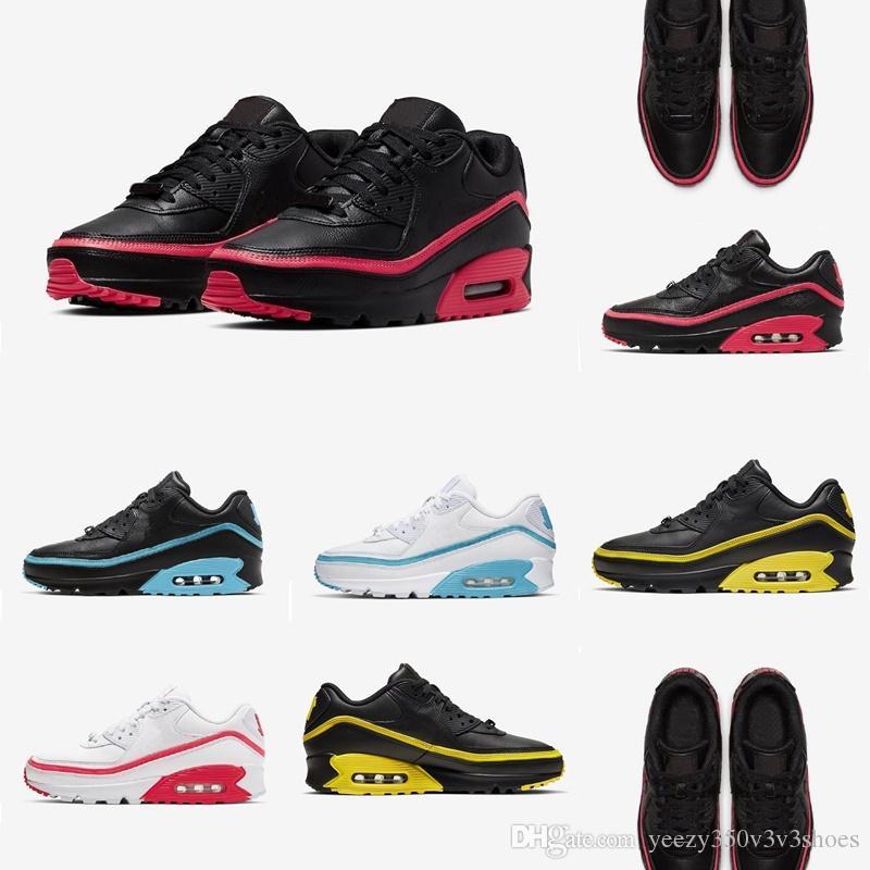 Scarpe New Fashion Mens classico Nike air max 90 uomini e donna Scarpe Verde Rosso Bianco Giallo Cuscino di superficie traspirante, scarpe casual 7-11 ghfjso-53464