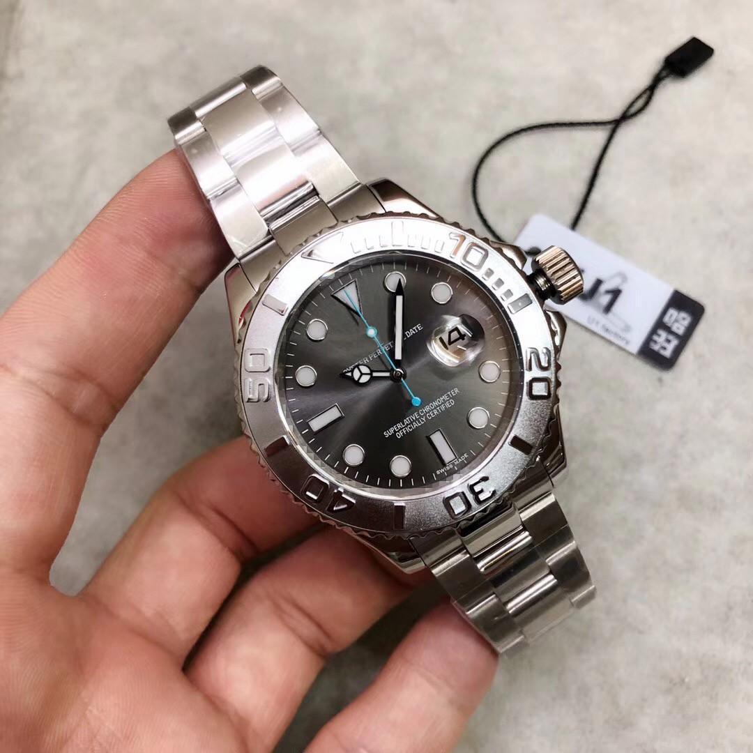2020 fábrica U1 del reloj para hombre gris cristal de zafiro de línea correa de acero inoxidable movimiento mecánico automático 116 622 40 mm para hombre del reloj del yate
