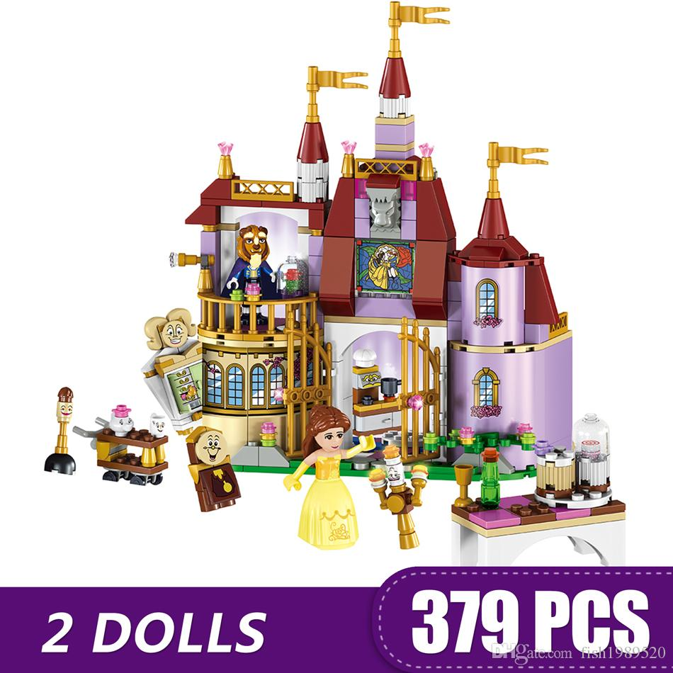 379PCS Small Building Blocks Toys Compatible with Legoe Belle's Enchanted Castle Gift for girls boys children DIY
