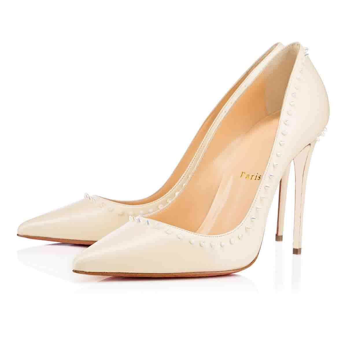 Alta Qualidade Mulheres dedo do pé Pointed Spikes Ballet Shoes Sexy Ladies (Red fundo) Salto Alto Anjalina Plano Mulheres Luxurious Bailarinas sapatos partido