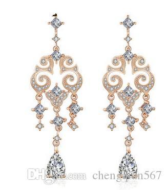멋진 925 실버 다이아몬드 크리스탈 여성의 earigns (31.48) hhguj