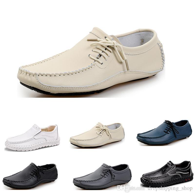 Hommes Chaussures de course mode sport hommes d'entraîneur d'espadrille noir blanc brun robe de sport confortable blanc crème gris bleu foncé sneaker 75