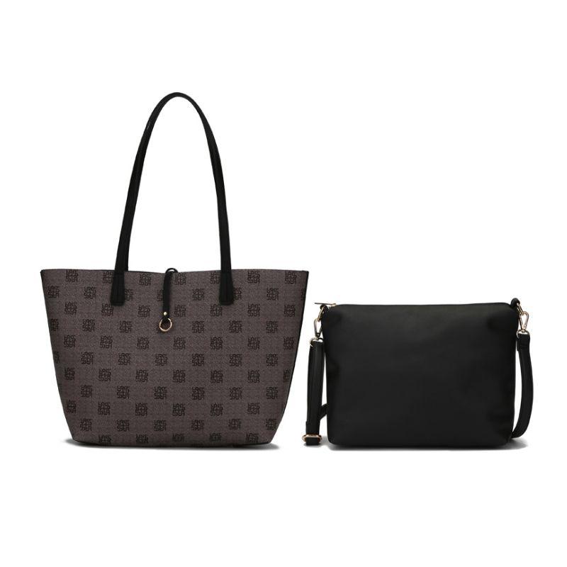 2pc / set femmes en cuir imprimé floral sacs à main en cuir Faux épaule Sacs fourre-tout mode poignée supérieure sac à main Set