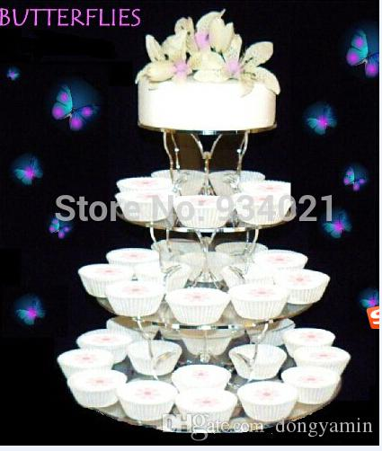 2020 4 Tier Butterfly Clear Acrylic Cupcake Stand Cake Holder Wedding Party Birthday From Dongyamin 55 28 Dhgate Com