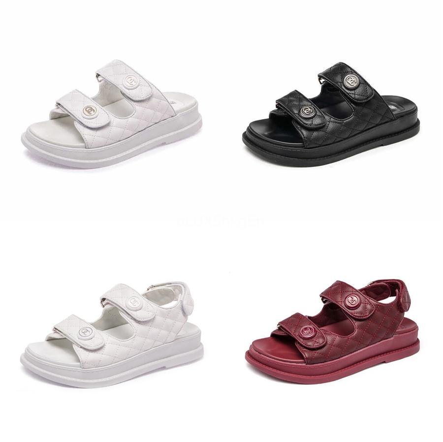Женщины Заклепки Сандалии Дамы Лодыжки Ремень Линия Стиль Пряжка Прозрачный Bling Тапочки Квартиры Летняя Обувь Прохладная Девушка Плюс Размер Обуви#822