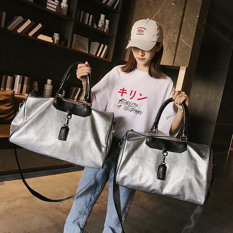 Fashion Reisetasche neuer Frauen große Kapazitäts Male tragbare Schultertasche Freizeit Reisen Duffel Bag Outdoor Sports Gym