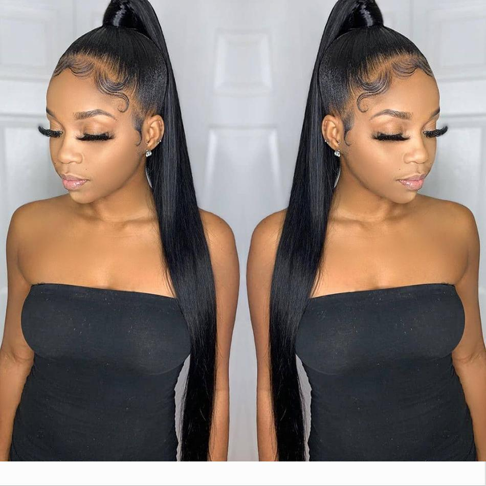 Designer 360 Lace Frontal perruque pré plumé avec bébé cheveux malaisienne droite Glueless Lace Front Cheveux perruques pour les femmes noires