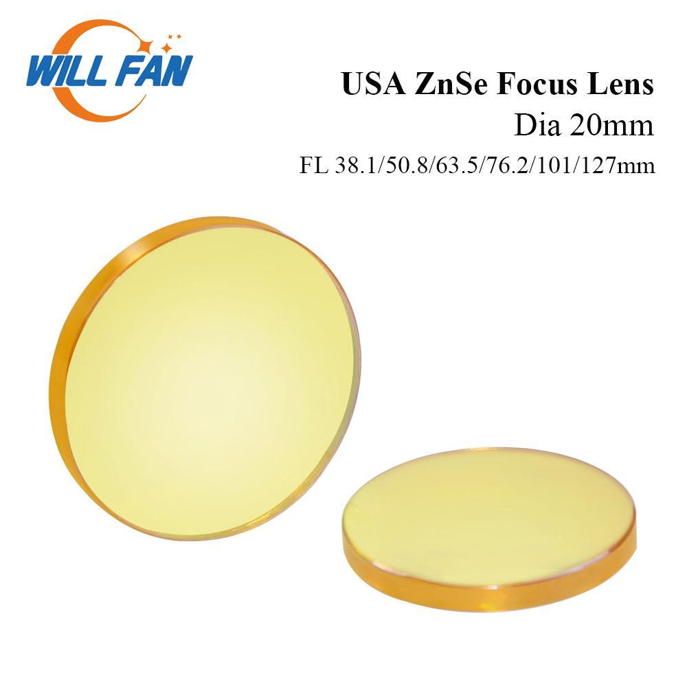 Est-ce que le ventilateur Dia 20mm USA Znse Focus Objectif FL 38.1mm 50.8mm 63.5mm 76.2mm 101mm Pour Co2 Laser Engrave Machine