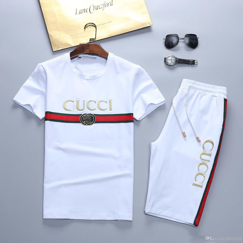 Summer Set Beach Mar Camisa de las vacaciones de los hombres pone en cortocircuito traje determinada de 2 Pedazo de flor de deporte