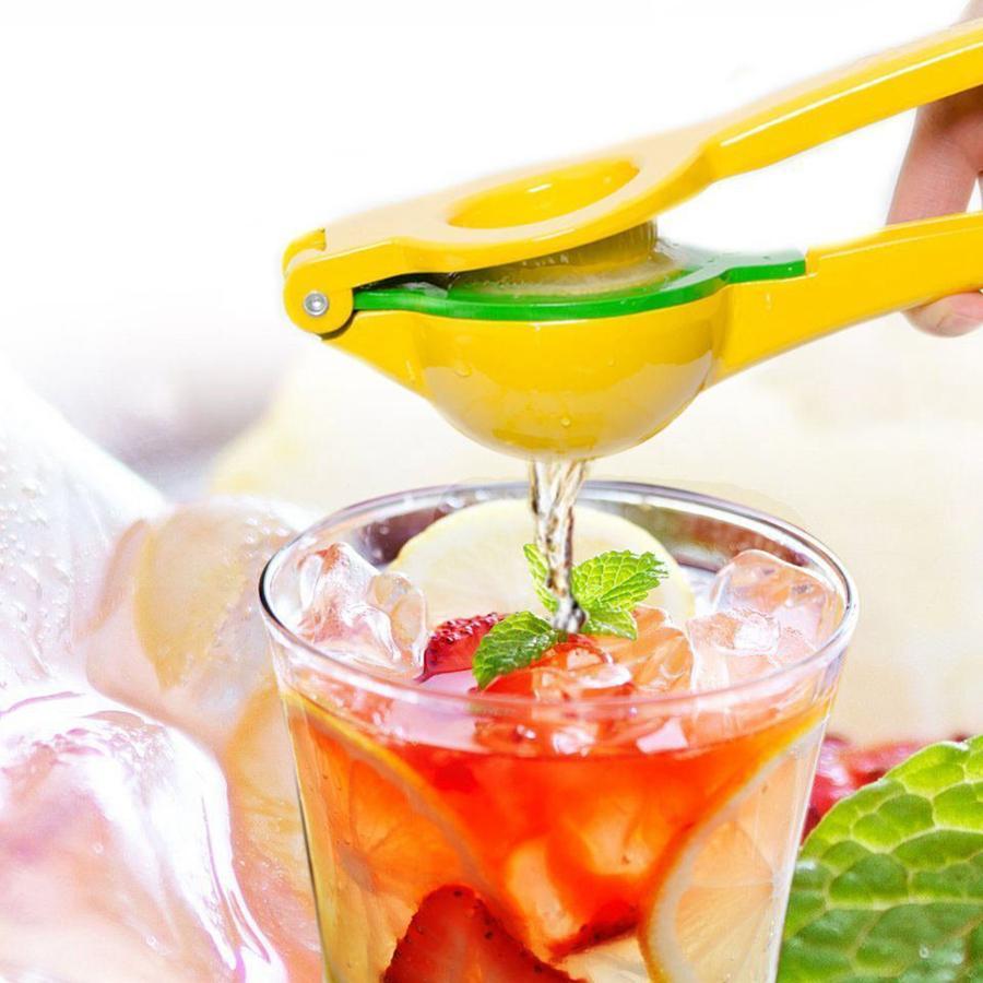 Lemon Squeezer Aluminum Double Bowl Manual Citrus Press Juice Useful Kitchen Tools Hand Press Orange Juice Reamers OOA1902