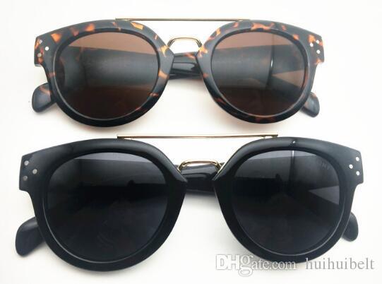 Yeni trend retro sokak çekim perçin moda CL güneş gözlüğü 41043