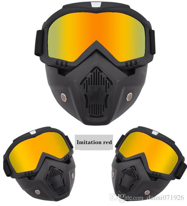 Mask Off-Road-Schutzbrille-Motorrad-Schutzbrillen Harley Helm Spiegel Tactical Goggles wind- und sanddichte neue heißen Verkauf-freies Verschiffen