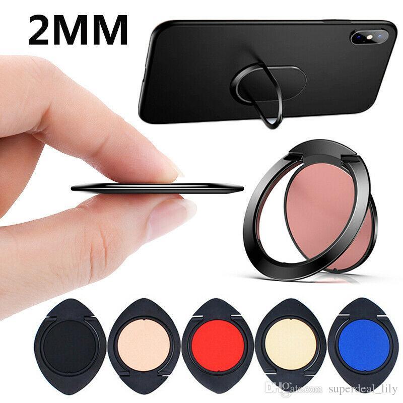 Ultra Thin Metal Finger Ring Holder Ultra Slim Mobile Phone Holder For iPhone Samsung Huawei Smartphone Stand Phone Bracket