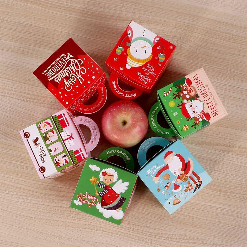 Partido dos desenhos animados Natal Suprimentos Duche caixa dos doces do bebê do partido de aniversário dos miúdos favores Gift Box de Natal Caixas de doces Caixas de Apple DBC VT1067