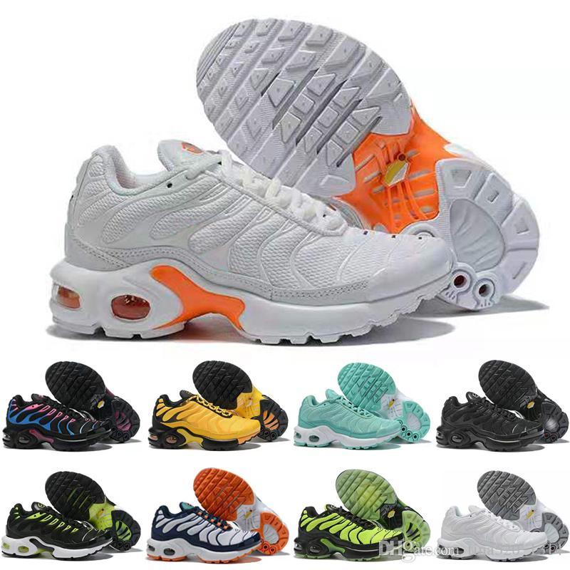 Nike Air Max TN Plus TN 2019 Bambini Running Shoes tn enfant molle respirabile di sport Chaussures Ragazzi Ragazze Tns Inoltre Sneakers Gioventù Requin Formatori Size28-35