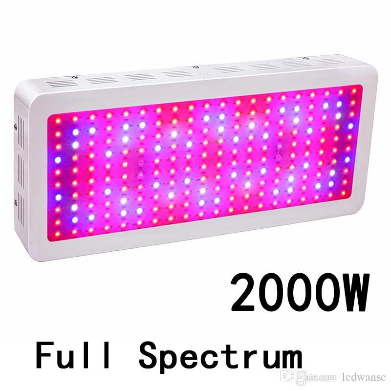 전체 스펙트럼 2000W 더블 칩 LED는 실내 식물과 꽃 높은 품질에 대한 조명 레드 블루 UV IR 성장
