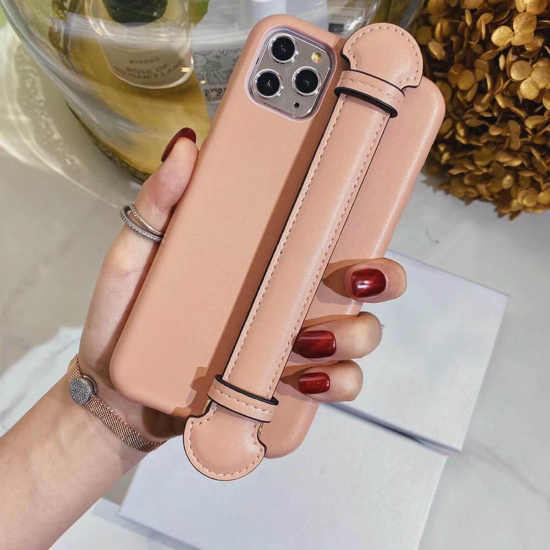ترف الهاتف حالة تنطبق حماية الغطاء فون 11 لينة شل إسقاط المقاومة الإبداعية الهاتف شل جلدية الحبل المعصم الأعلى
