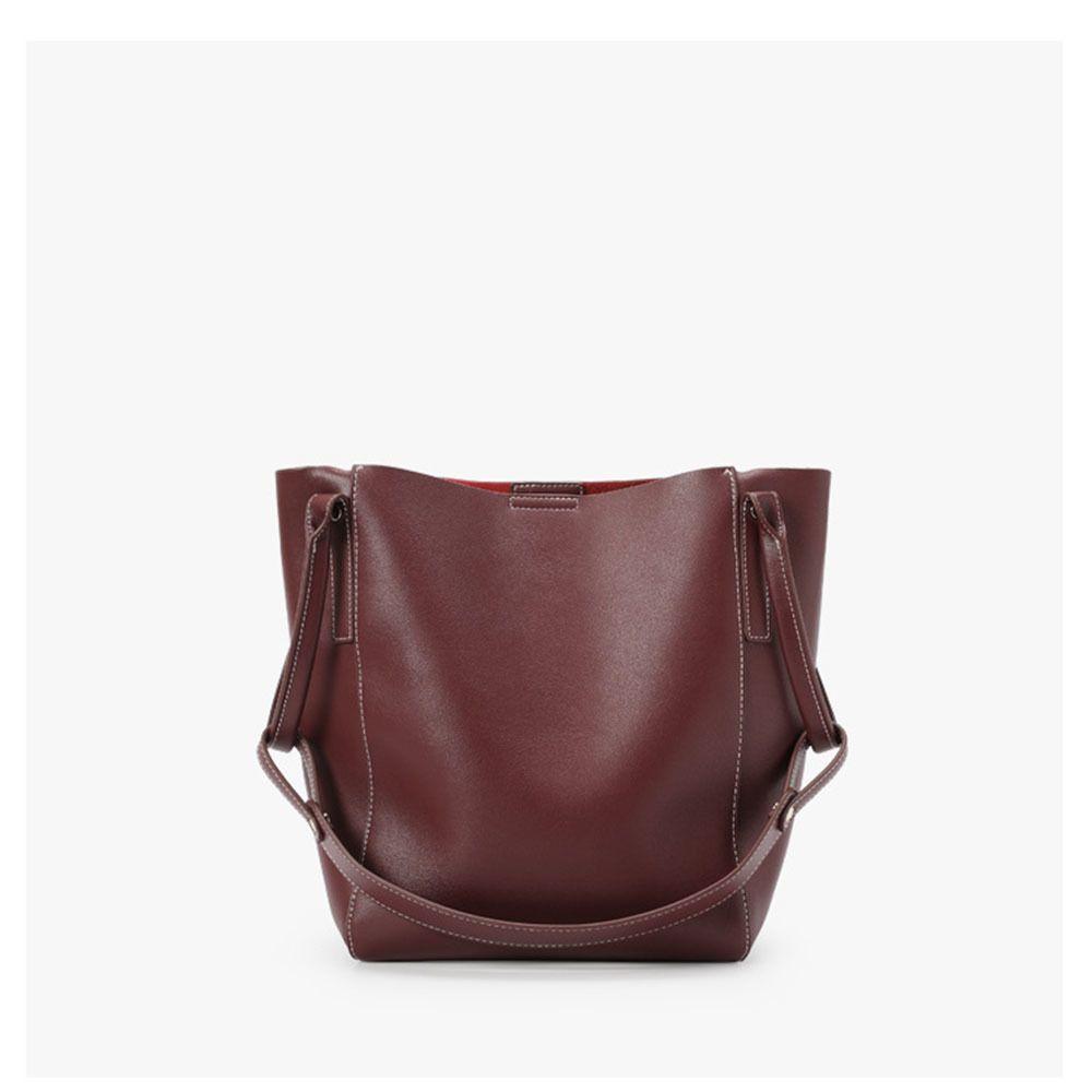 YIFANGZHE Женщины кожи плеча сумки, Geniune женщина кожаные сумки WTH большой емкости вместительные зонтик / книга T200619
