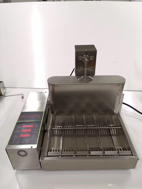 الالكترونية التحكم في الإصدار التلقائي 6 صفوف الجهاز البسيطة دونات الكعك صانع دونات المقلاة