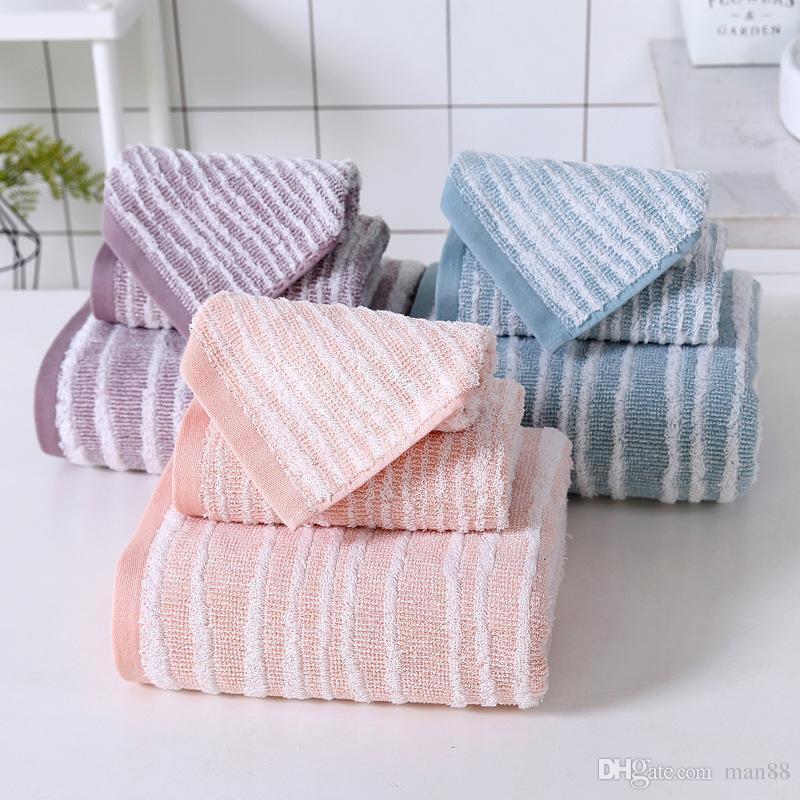 Pamuk Havlu Yumuşak Emici Havlu Banyo Havlu Üç parçalı Kalın Emici