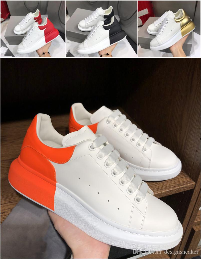 패션 남성 여성 캐주얼 운동화 파티 플랫폼 드레스 신발 가죽 패치 워크 색상 CHAUSSURES 최고 품질