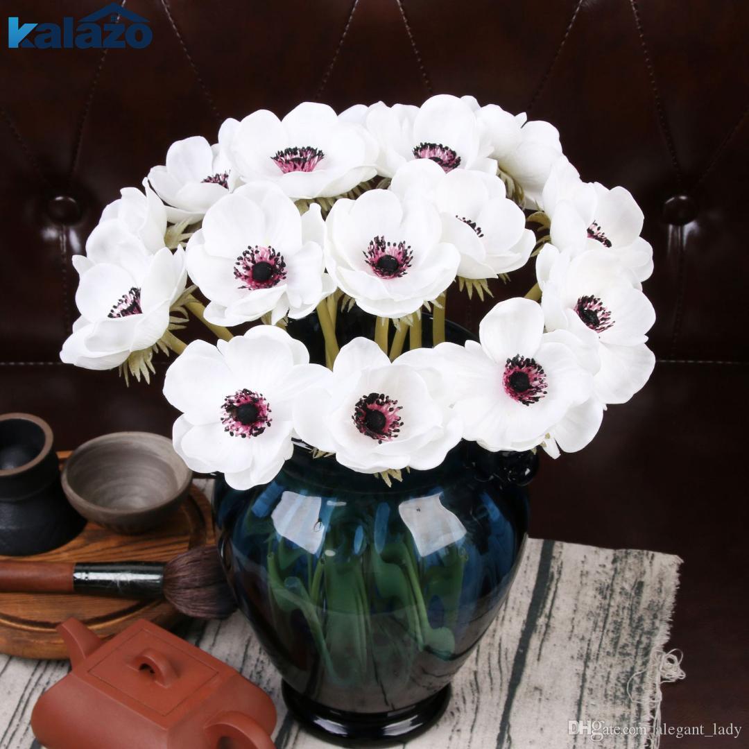 2020 moderno Anêmona Real toque de flor artificial casamento nupcial rosa buquê fotografia adereços para ornamento de jardim decoração de casa