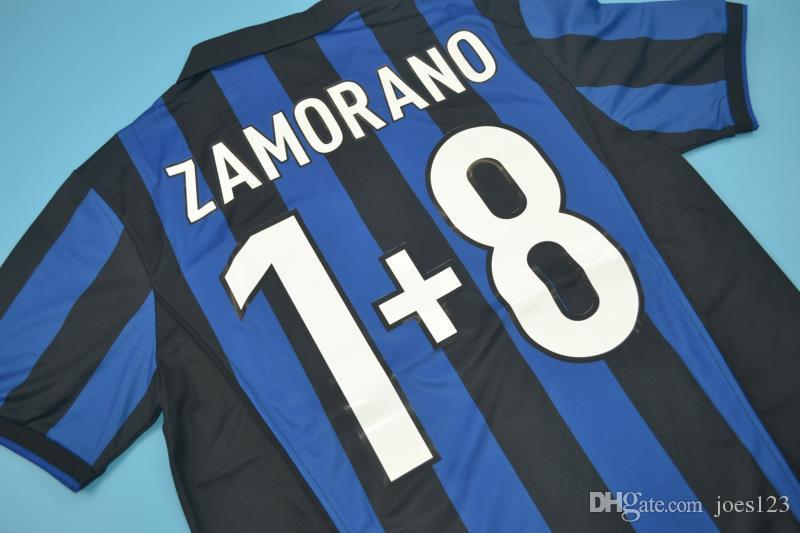 reputable site 18e32 da11e 2019 1998 99 Inter Home Retro Jerseys Ronaldo Baggio Recoba Zamorano  Zanetti Simeone Sousa Kanu Bergomi Pilro Vantage CLASSIC Jersey From  Joes123, ...