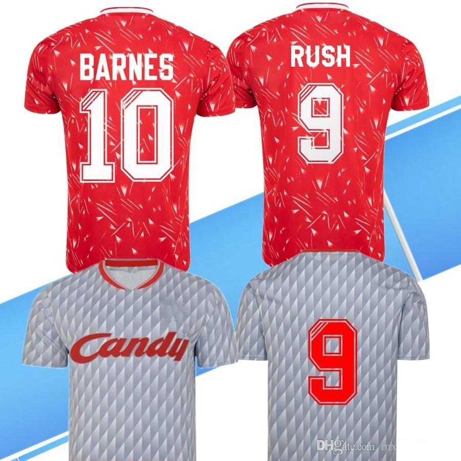 1989 1991 JOHN BARNES Ian Rush Kenny Dalglish retro soccer jersey 1990 CANDY home away classic vintage football shirt