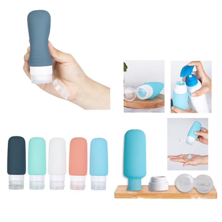 5color 3OZ سيليكون زجاجة تسرب إثبات سيليكون التجميل حجم سفر أدوات الزينة حاويات للصابون اليد موزع الجمال عناصر T2I5708