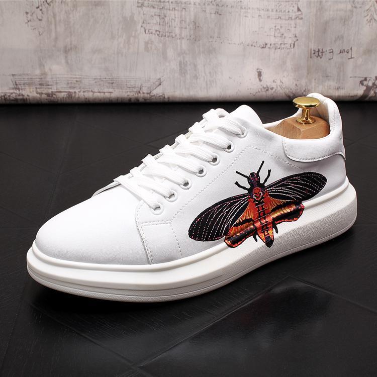 Sapatilha otoño inspiración zapatos de plataforma hombres jóvenes holgazanes de los zapatos Zapatos ocasionales de los hombres 305