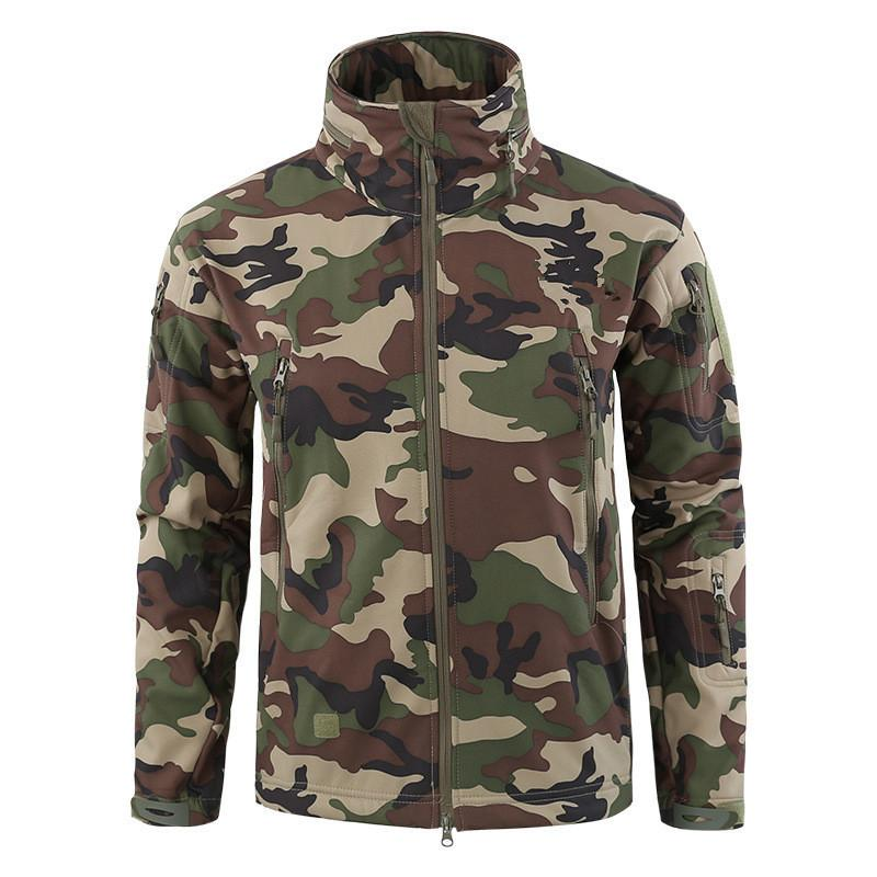 Winter Softshell Fleece Tactical-Jacken Herren-Armee-Tarnung Mäntel Wasserdichte Windjacke Wandern Jagd Camping Jacke