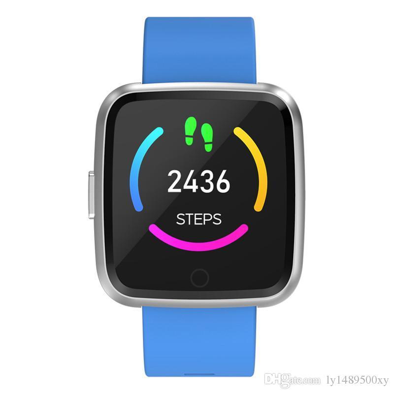 Y7 Long Standby Time Smart Watch Blood Pressure Oxygen Smart watch Waterproof BT4.0 Heart Rate Watch